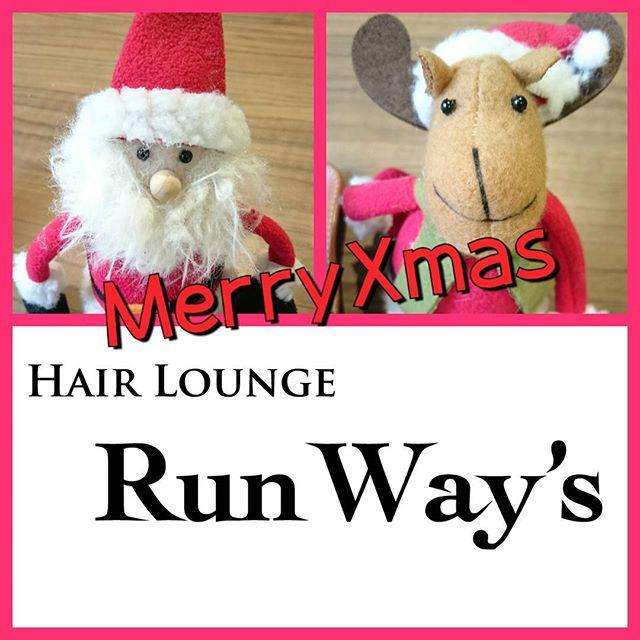 MerryXmas~今年も後少しになってしまいました年始を素敵なスタイルで迎えましょう~30日まで、営業してます~ #綱島美容室#綱島ランウェーズ#クリスマス#Xmas#サンタとトナカイ#關#關隆之#Runway's#スタイリングをもっと、簡単に